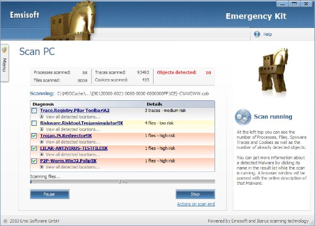 Скачать бесплатно Emsisoft Emergency Kit 1.0.0.31 RUS Portable