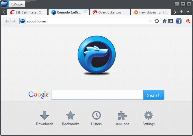 Comodo IceDragon 18 RUS скачать бесплатно - безопасный интернет браузер