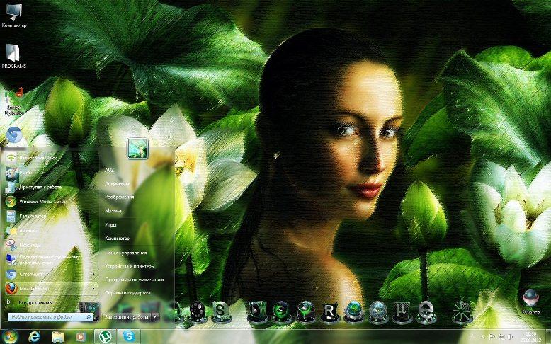Темы в зеленых тонах 2012 для Windows 7 скачать бесплатно