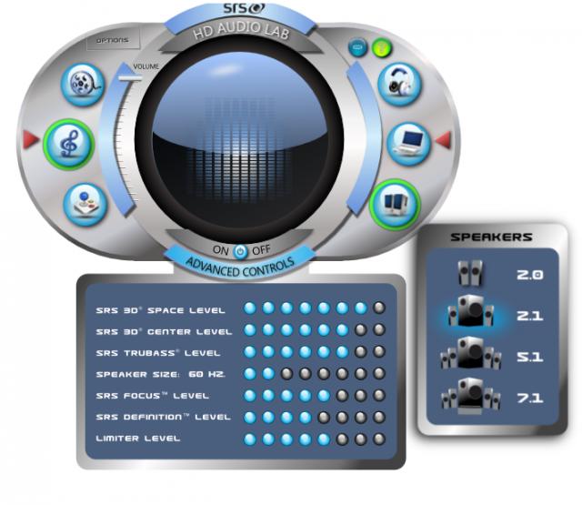SRS HD Audio Lab Gold 1.0 + crack скачать бесплатно - звуковой плагин