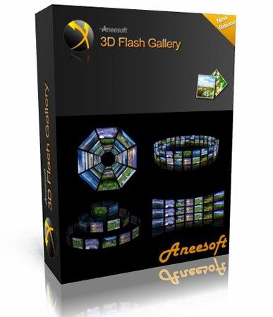 Aneesoft 3D Flash Gallery 2.4 скачать бесплатно - создание 3d фотографий