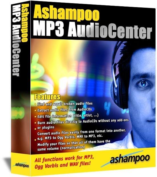 Ashampoo MP3 AudioCenter 1.64 - аудио редактор, конвертер скачать бесплатно