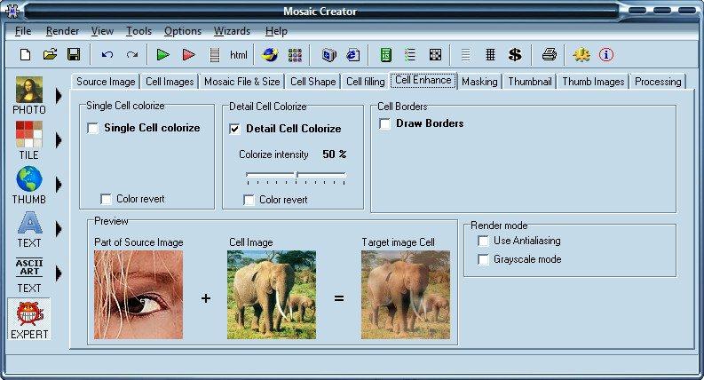 Mosaic Creator Pro 3.1 + serial программа для создания мозаики