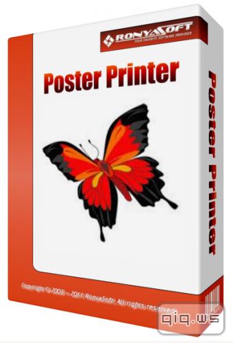 Программа для печати плакатов, постеров - RonyaSoft Poster Printer 3.01 скачать