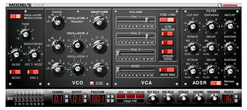 Model E - Steinberg VB-1 ENG - аналоговый виртуальный синтезатор скачать