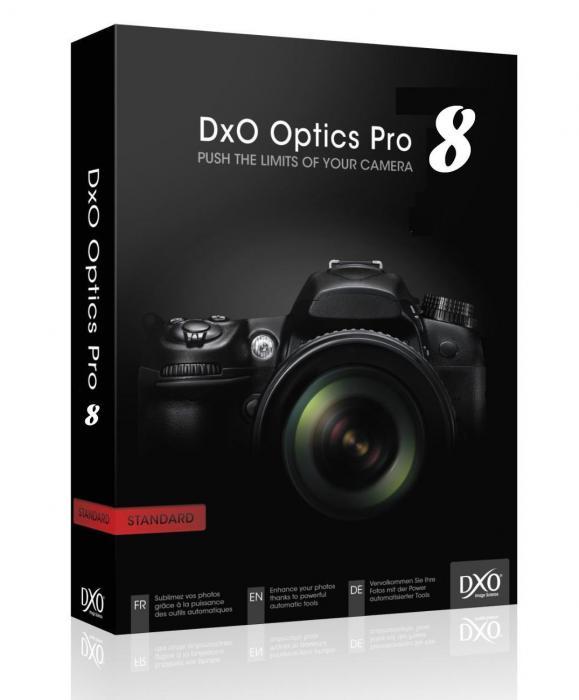 DxO Optics Pro 8 ENG скачать бесплатно - редактор фотографий
