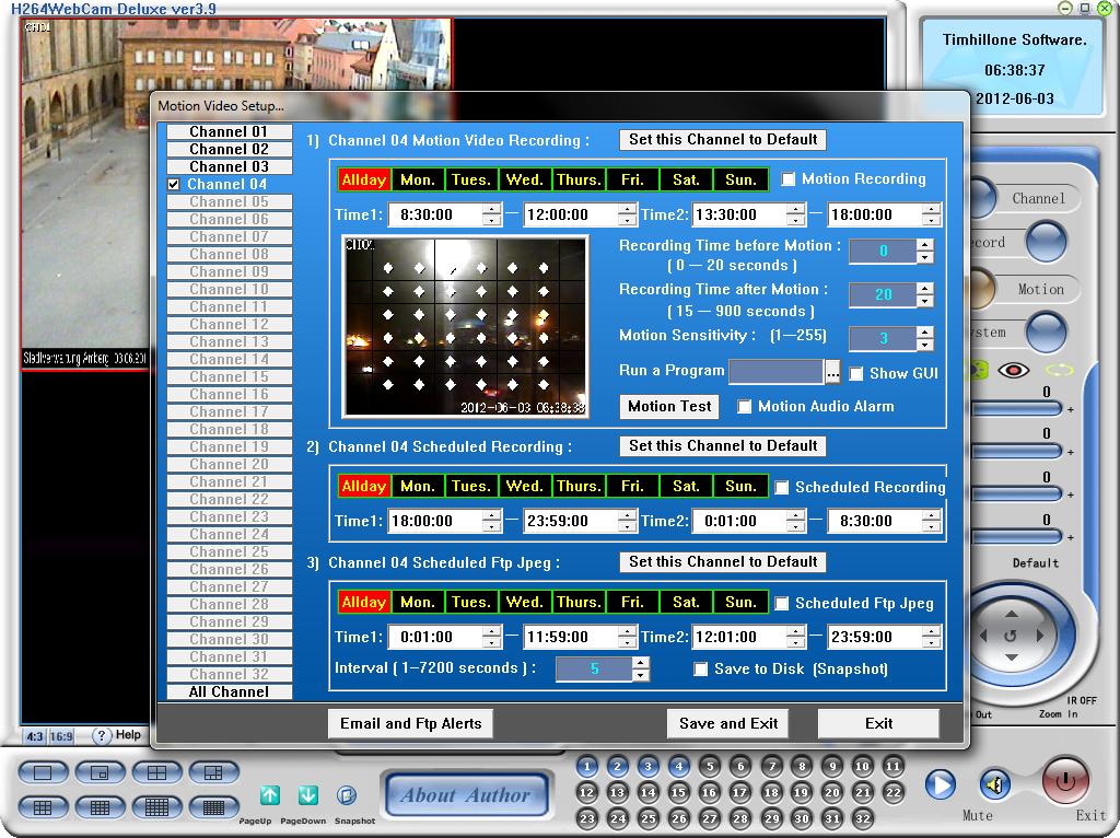 H264 WebCam 3.9 программа для работы с веб камерой