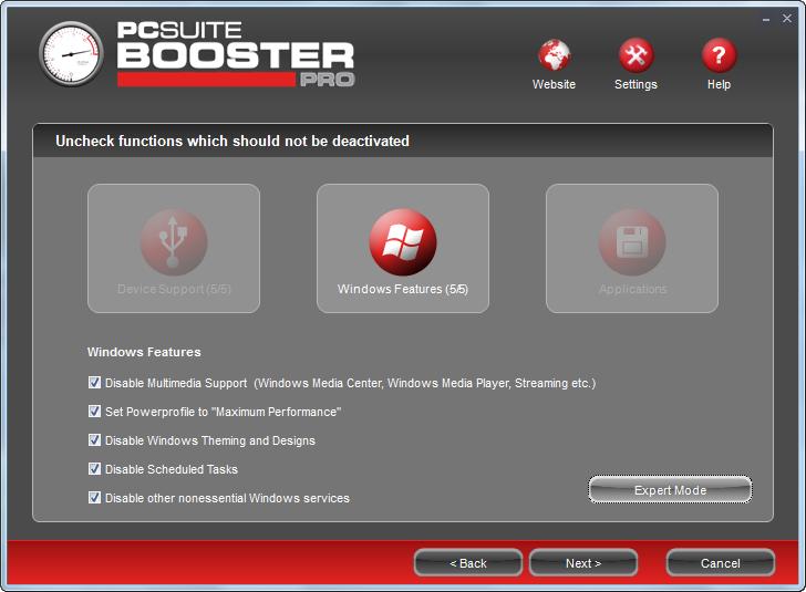 PcSuite Booster Pro 1.4 скачать бесплатно - ускорение работы Windows 7