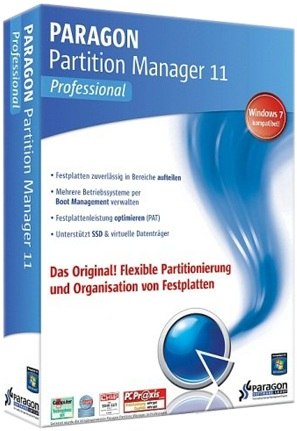 Paragon Partition Manager 11 Professional (x86/x64) RUS + serial скачать бесплатно